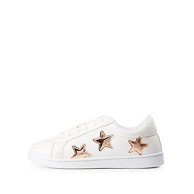 Metallic Star Sneakers