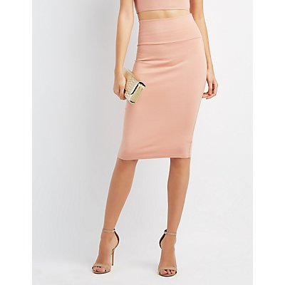 High-Waisted Pencil Skirt