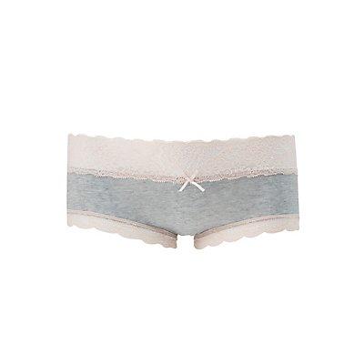 Lace-Trim Mermaid Boyshort Panties