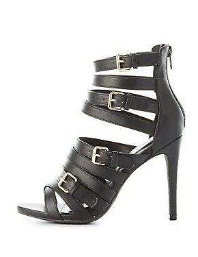 Buckled Multistrap Dress Sandals