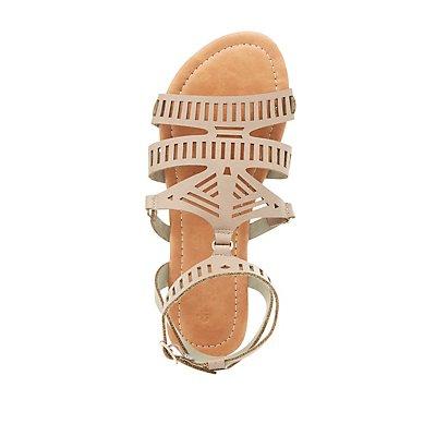 Laser Cut Gladiator Sandals