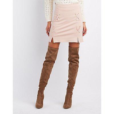 Crisscross A-Line Skirt