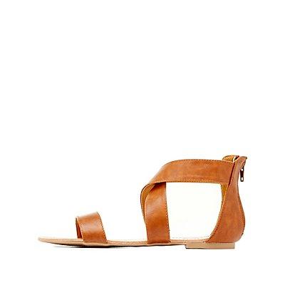 Crisscross Ankle Sandals