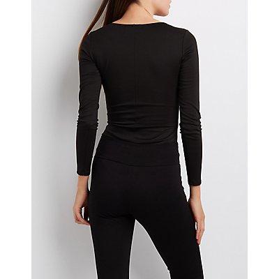 Ponte Asymmetrical Cut-Out Bodysuit