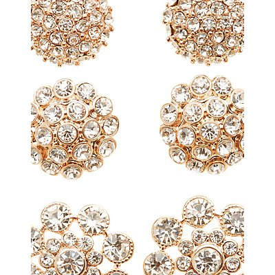Embellished Oversize Stud Earrings - 3 Pack
