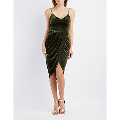 Velvet Wrapped Bodycon Dress