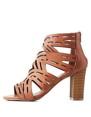 Wide Width Laser Cut Sandals