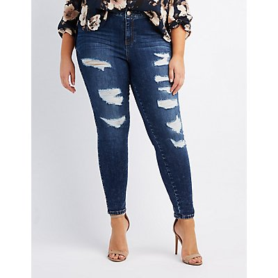 Plus Size Jeans &amp Denim for Women | Charlotte Russe
