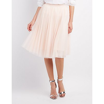 Tulle Full Midi Skirt