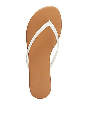 Patent Thong Sandals