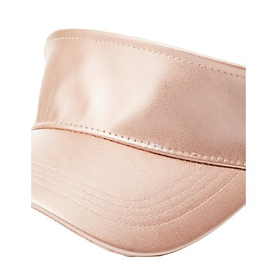 Faux Leather Visor Hat
