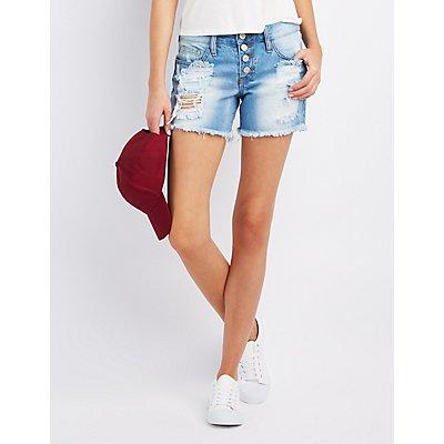 Refuge Cut-Off Denim Shorts