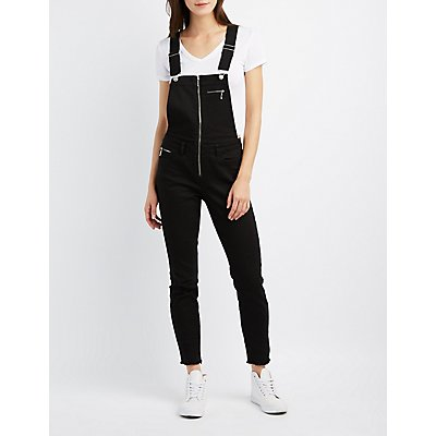 Refuge Zip-Front Denim Overalls
