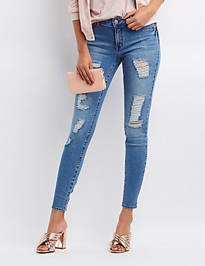 Refuge Push Up Legging Lifting Destroyed Jeans