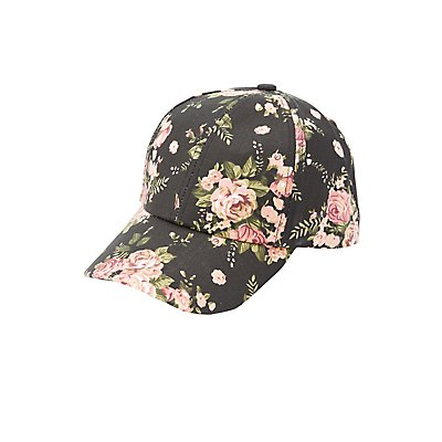 Floral Printed Baseball Hat