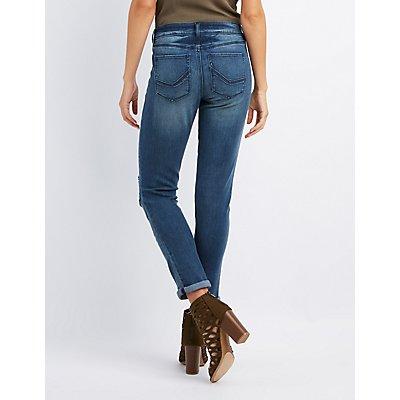 Refuge Patchwork Boyfriend Destroyed Jeans