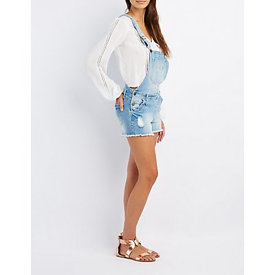 Refuge Destroyed Denim Shortalls