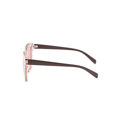 Clear Oversize Sunglasses