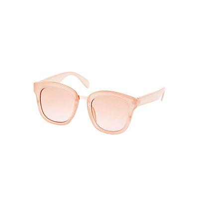 Retro Oversize Metal-Trim Sunglasses