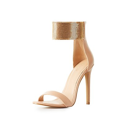 Metal Strap Two-Piece Sandals