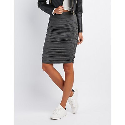 Ruched Pencil Skirt | Charlotte Russe