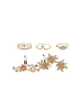 Embellished Rings & Finger Crawler - 4 Pack