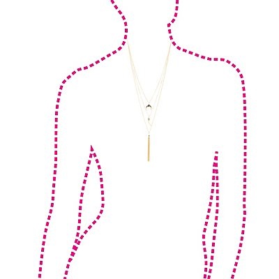 Charm Chainlink Layered Necklace