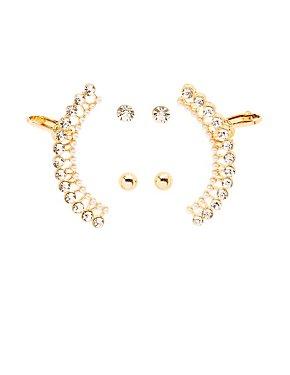 Embellished Ear Cuffs & Stud Earrings Set