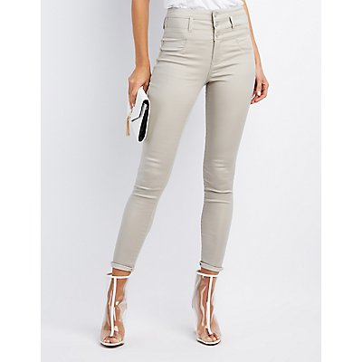 Skinny Jeans: High-Waist Ripped &amp Cropped | Charlotte Russe