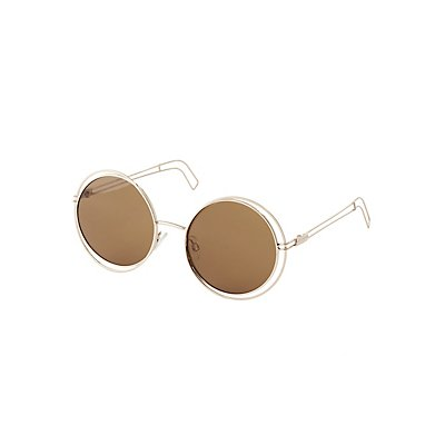 Round Wire Frame Sunglasses
