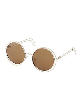 Round Wire Frame Sunglasses