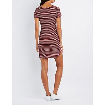 Striped Crew Neck Dress