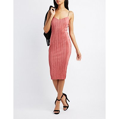 Micro Pleated Slip Dress