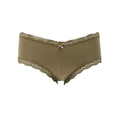 Lace Panel Cheeky Panties