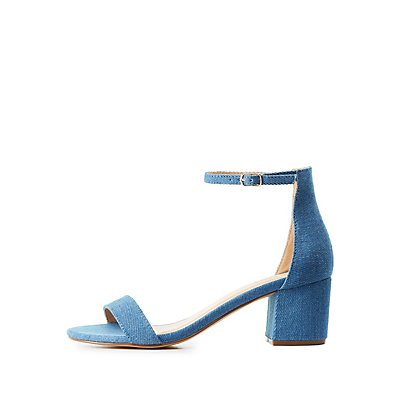 Denim Two-Piece Sandals