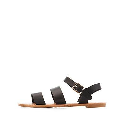 Three-Piece Strappy Sandals