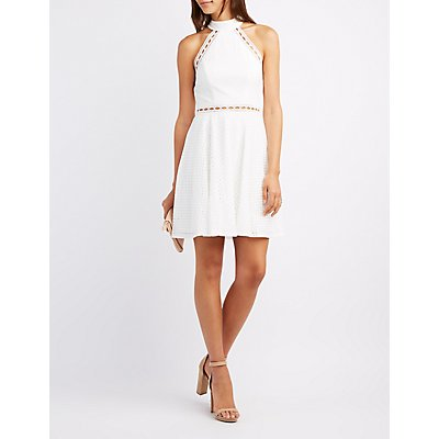 Little White Dress: Chiffon- Cut-Out &amp- Lace - Charlotte Russe
