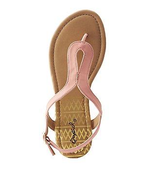 Qupid T-Strap Sandals
