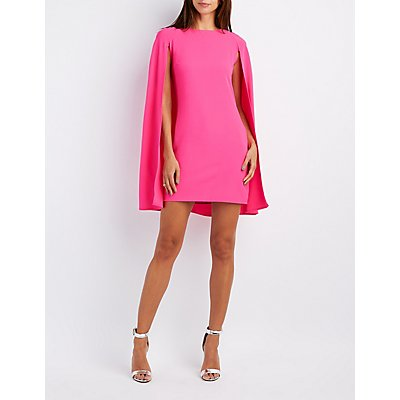 Caped Structured Bodycon Dress