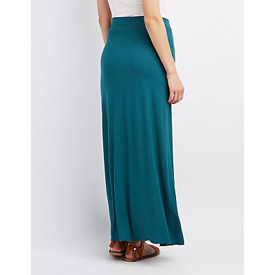 Double Slit Maxi Skirt