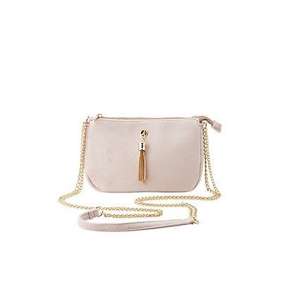 Velvet Tassel Crossbody Bag