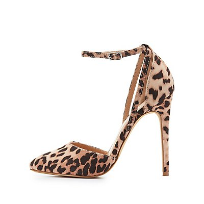 Leopard Print Pointed Toe Pumps