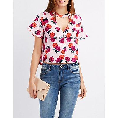 Floral Button-Up Blouse