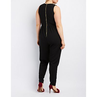 Plus Size Caged Jumpsuit