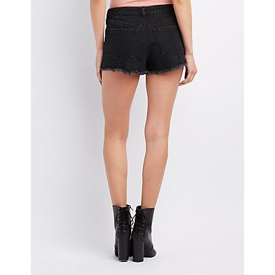 Destroyed Cut-Off Denim Shorts