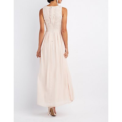 Lace & Chiffon Maxi Dress