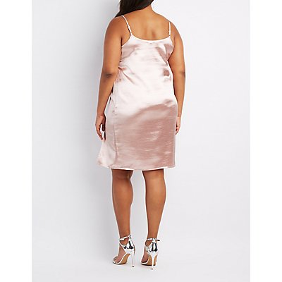Plus Size Satin Slip Dress