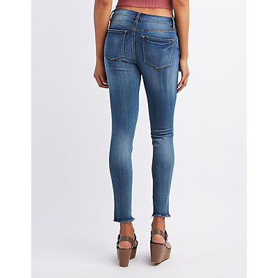 Refuge Skin Tight Legging Cut-Off Jeans