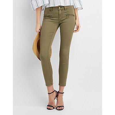 Refuge Zipper-Trim Skinny Jeans