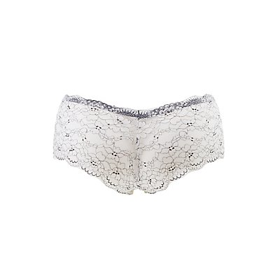 Plus Size Lace Cheeky Panties